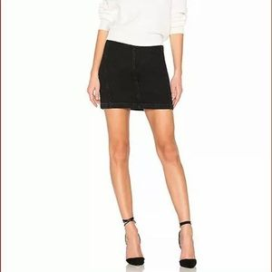 AGOLDE SIOUXISE ZIP BACK SKIRT MINI